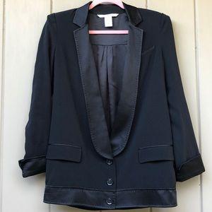 DVF tuxedo blazer